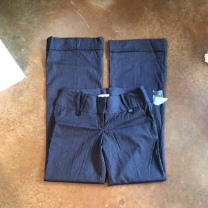 Forever 21 pinstripe flare cuffed pants